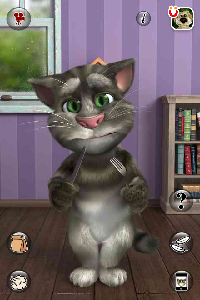 Talking tom cat говорящий кот для iphone