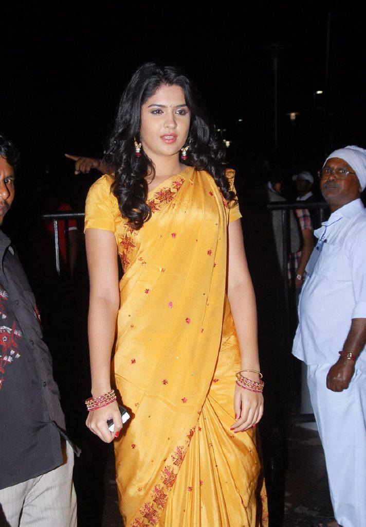 DEEKSHA SETH BEAUTIFUL LOOK IN SAREE AT SANTOSHAM AWARDS sexy stills