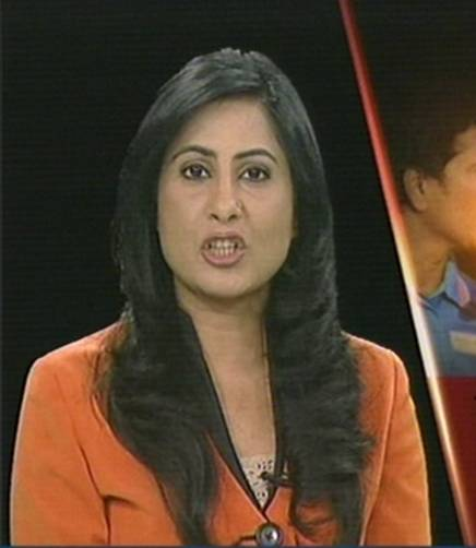 beautiful indian tv news reporters