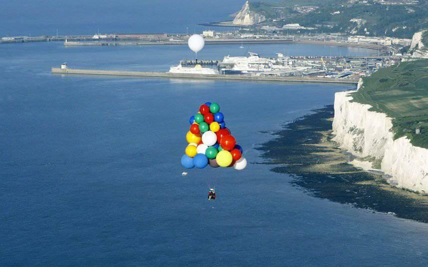 Balonem nad kanałem La Manche 3