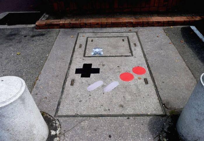 Pomysłowy street art 11