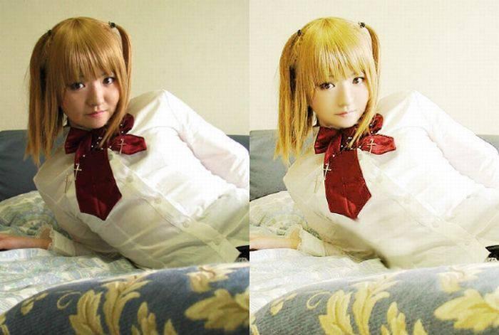 Cosplay: przed i po retuszu 13