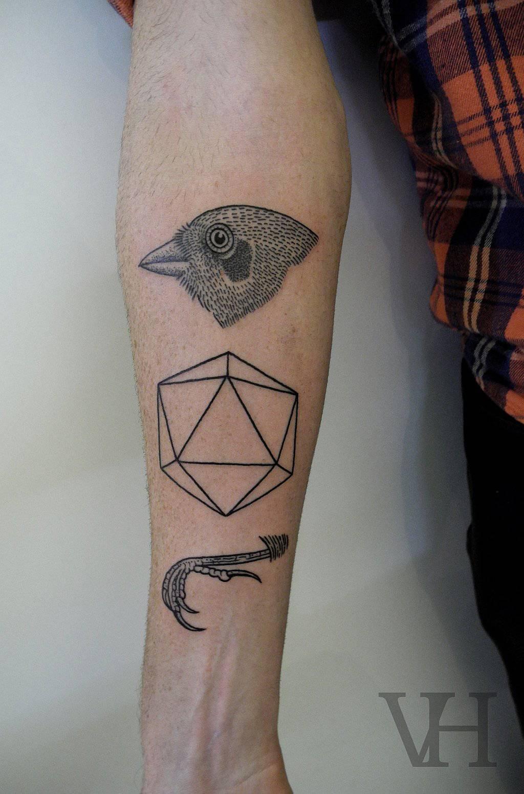 Geometryczne tatuaże 34
