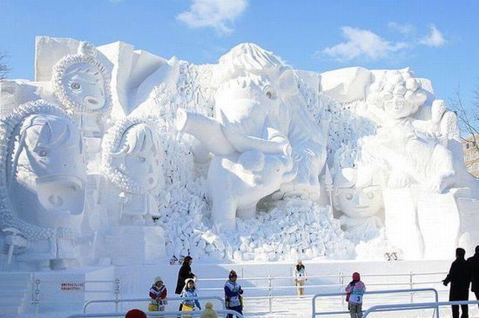 Rzeźby ze śniegu 41
