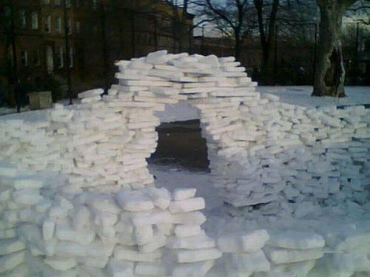 Śniegowe budowle 31