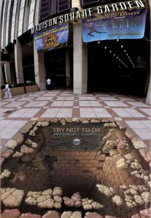 Trójwymiarowa sztuka uliczna 1