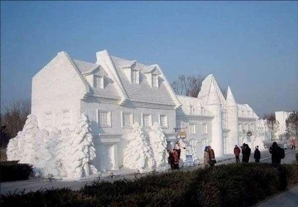Śnieżne rzeźby 1