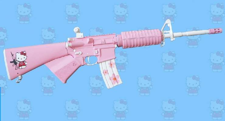 Różowy karabin 1