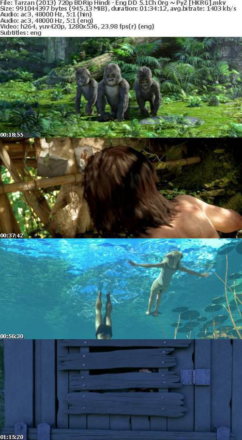 Tarzan (2013) 720p BDRip Hindi - Eng DD 5 1Ch Org ~ PyZ