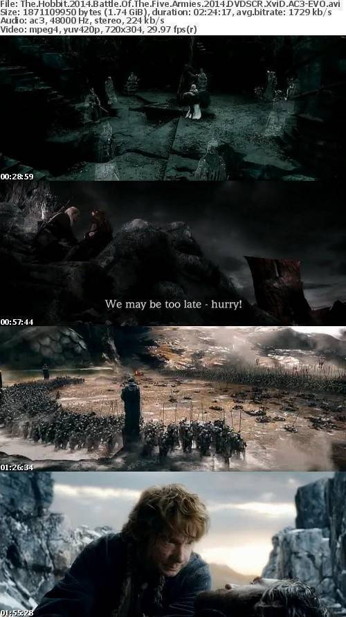 The Hobbit 2014 Battle Of The Five Armies 2014 DVDSCR XviD AC3-EVO