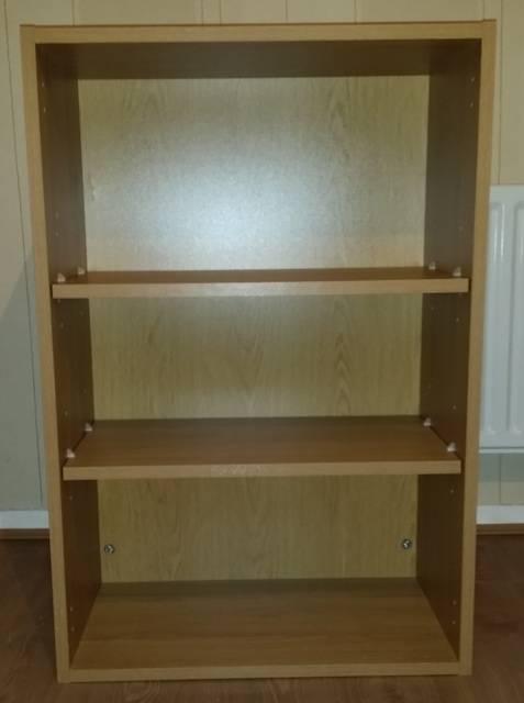 Schreiber kitchen oak 600mm wall mounted 2 shelf shelves for 600mm kitchen wall unit