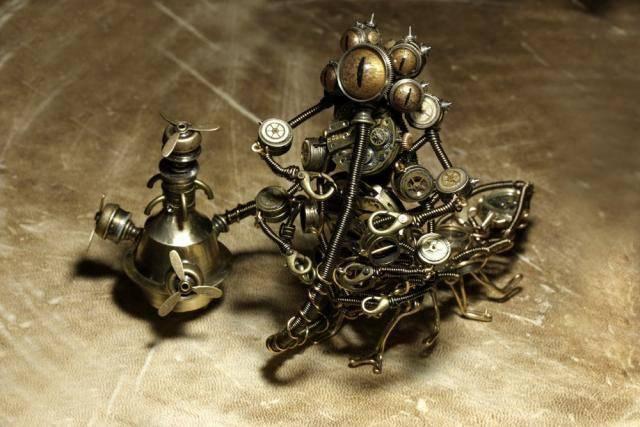 Steampunkowe rzeźby 6