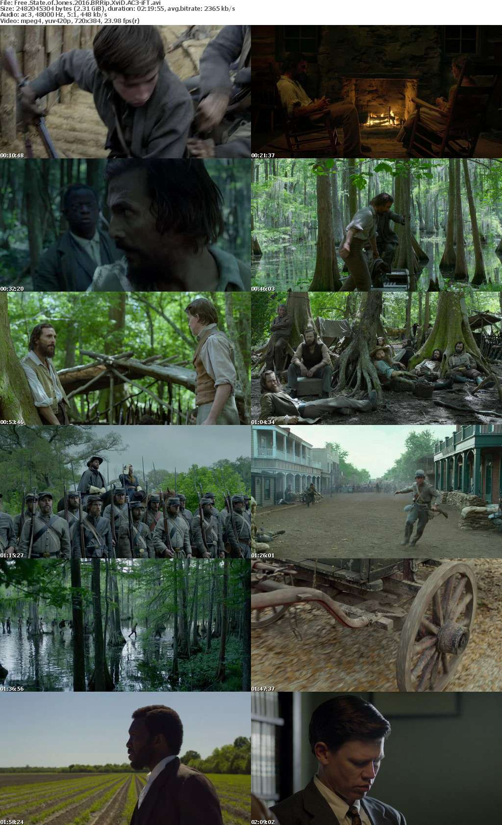 Free State of Jones 2016 BRRip XviD AC3-iFT