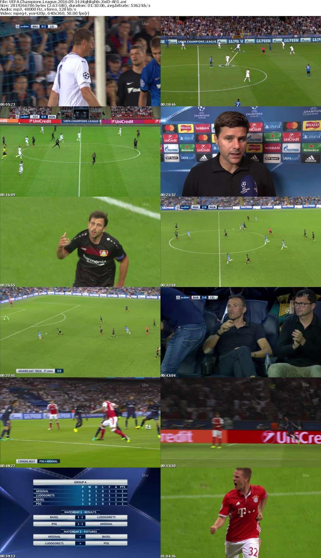 UEFA Champions League 2016 09 14 Highlights XviD-AFG
