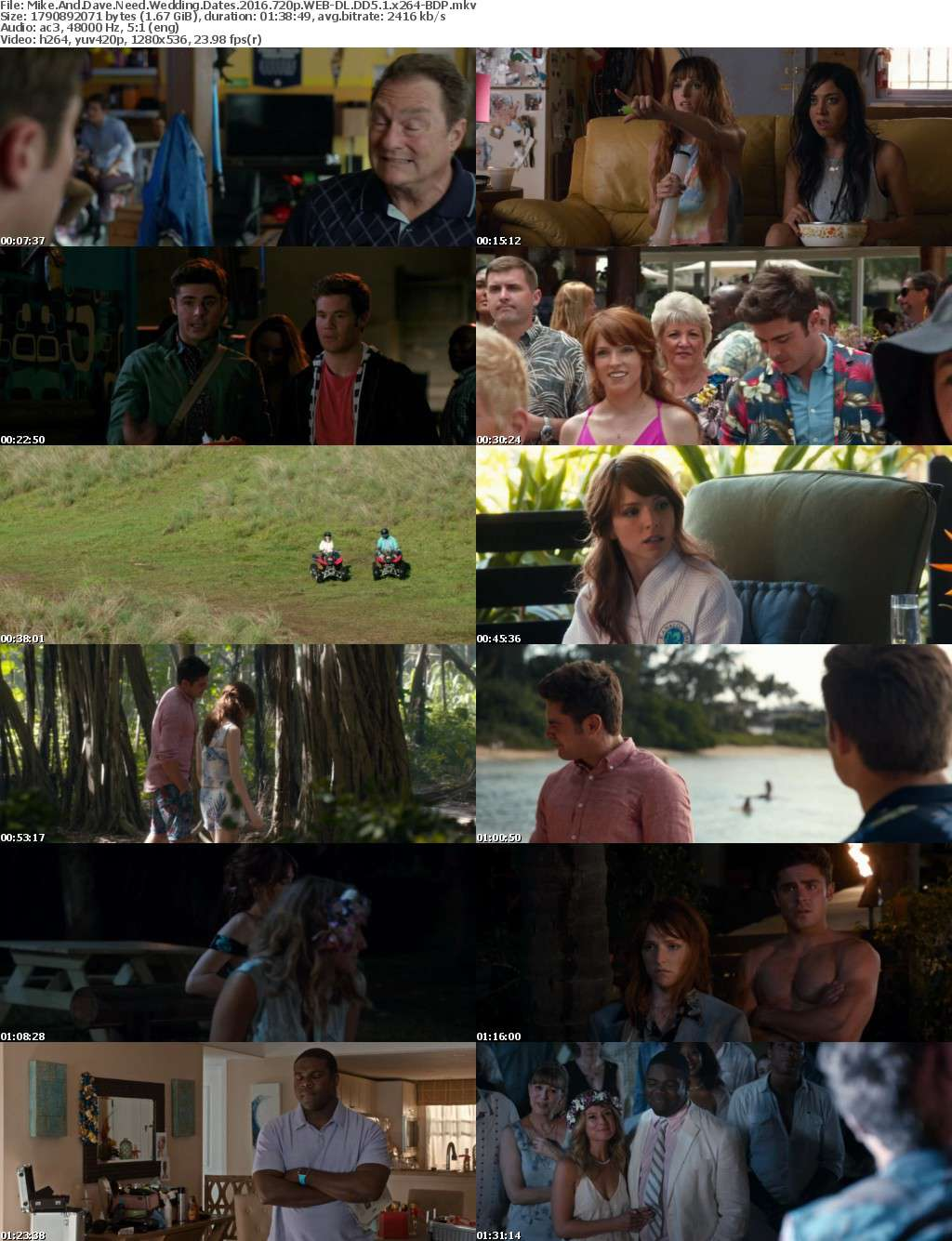 Mike And Dave Need Wedding Dates 2016 720p WEB-DL DD5 1 x264-BDP