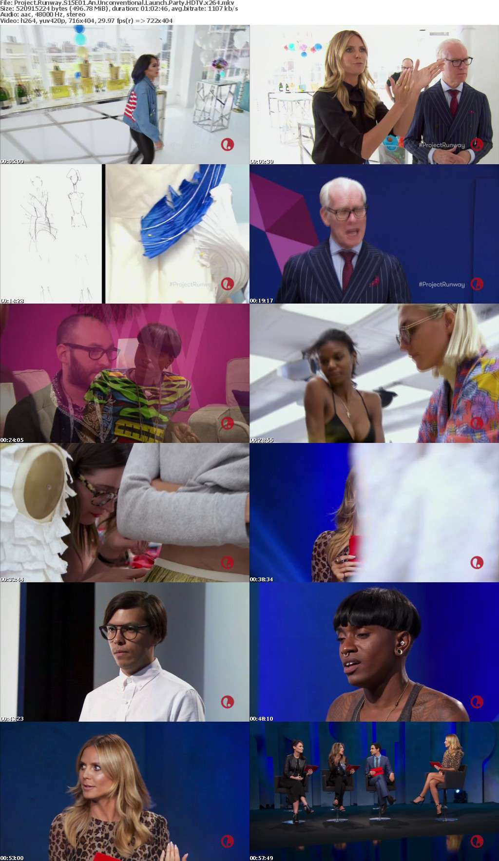 Project Runway S15E01 An Unconventional Launch Party HDTV x264