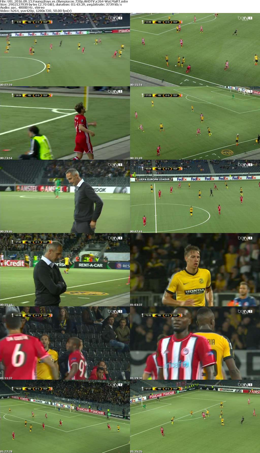 UEL 2016 09 15 Young Boys vs Olympiacos 720p AHDTV x264-WaLMaRT