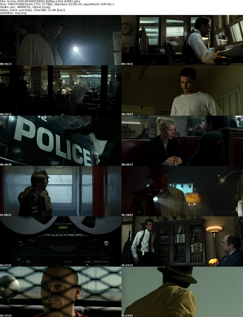 Se7en 1995 REMASTERED BDRip x264-VoMiT