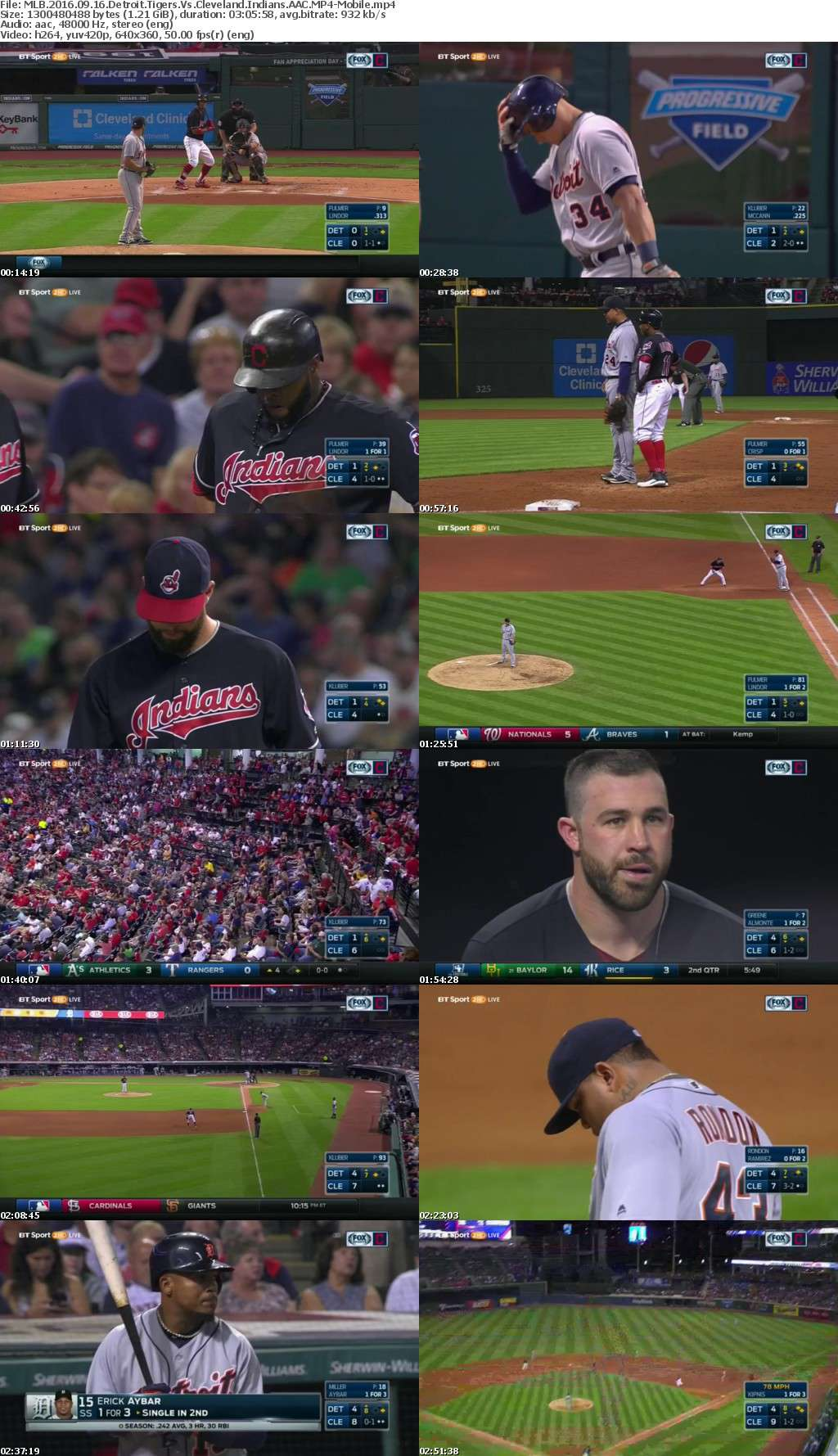MLB 2016 09 16 Detroit Tigers Vs Cleveland Indians AAC-Mobile