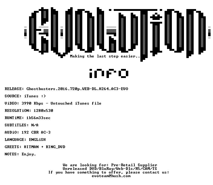 Ghostbusters 2016 720p WEB-DL H264 AC3-EVO