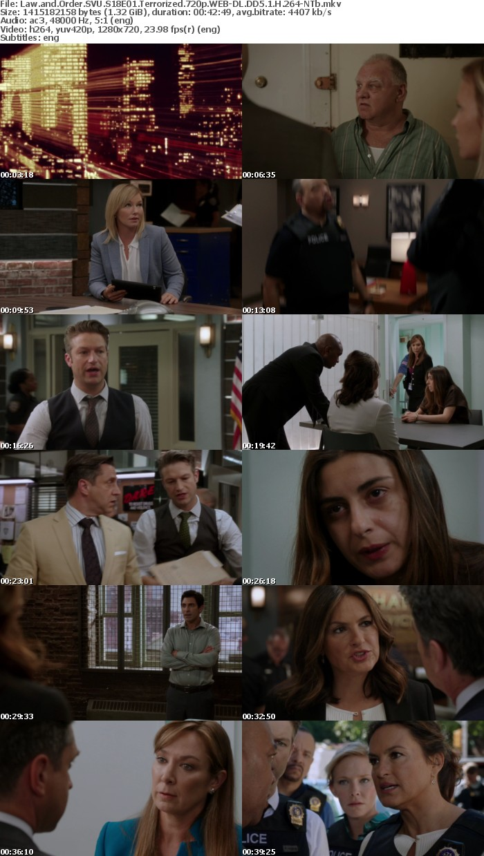 Law and Order SVU S18E01 Terrorized 720p WEB-DL DD5 1 H 264-NTb