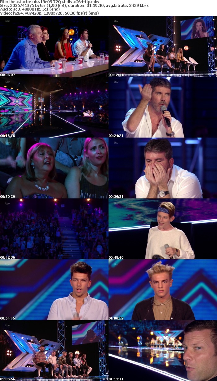 The X Factor UK S13E09 720p HDTV x264-FTP