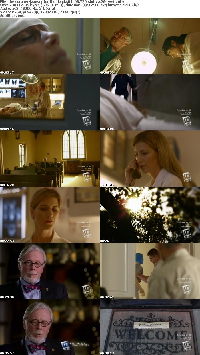 The Coroner-I Speak for the Dead S01E08 720p HDTV x264-W4F