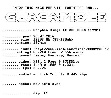 Stephen Kings It 1990 1080p BluRay x264 REPACK-GUACAMOLE