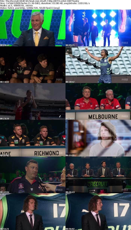 The Recruit S02E10 Final Live Draft 720p HDTV x264-CBFM