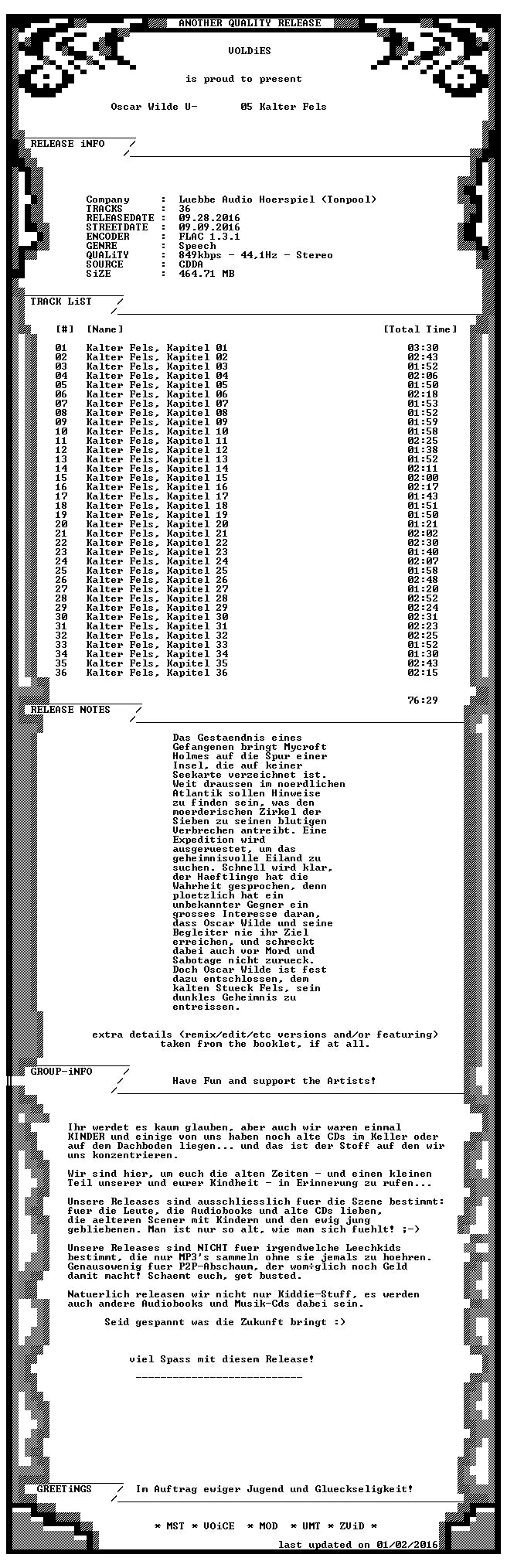 Oscar Wilde Und Mycraft Holmes-05 Kalter Fels-DE-AUDIOBOOK-CD-FLAC-2016-VOLDiES