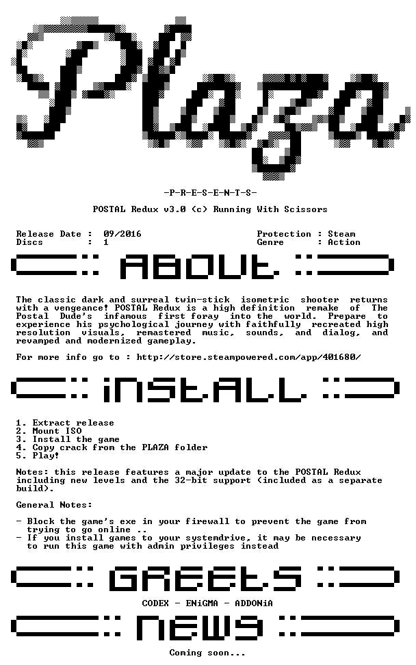 POSTAL Redux v3 0-PLAZA
