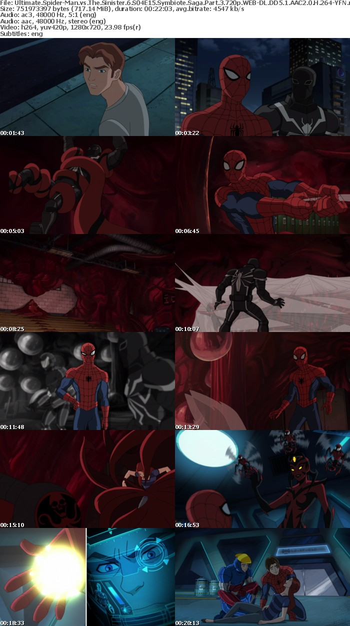 Ultimate Spider-Man vs The Sinister 6 S04E15 Symbiote Saga Part 3 720p WEB-DL DD5 1 AAC2 0 H 264-YFN
