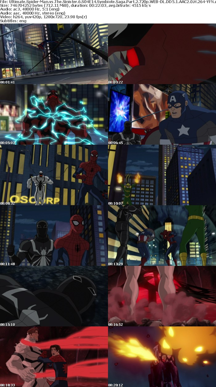 Ultimate Spider-Man vs The Sinister 6 S04E14 Symbiote Saga Part 2 720p WEB-DL DD5 1 AAC2 0 H 264-YFN