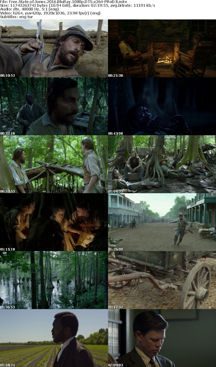 Free State Of Jones 2016 BluRay 1080p DTS x264-PRoDJi