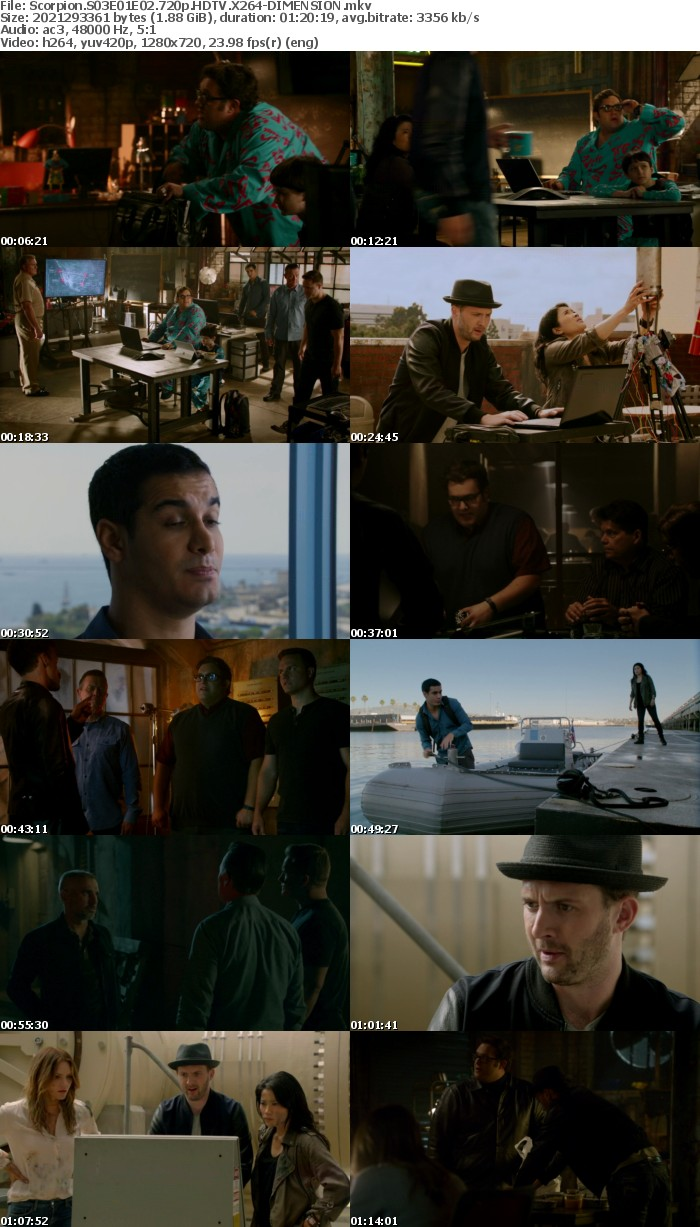 Scorpion S03E01E02 720p HDTV X264-DIMENSION
