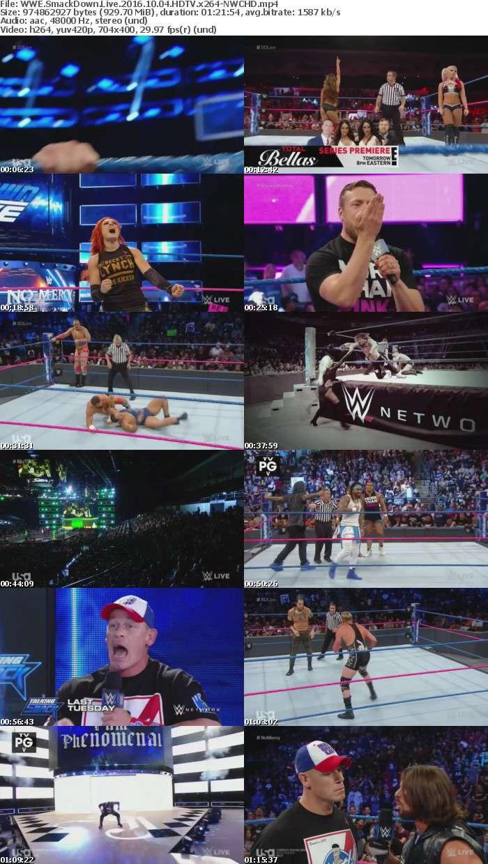 WWE SmackDown Live 2016 10 04 HDTV x264-NWCHD