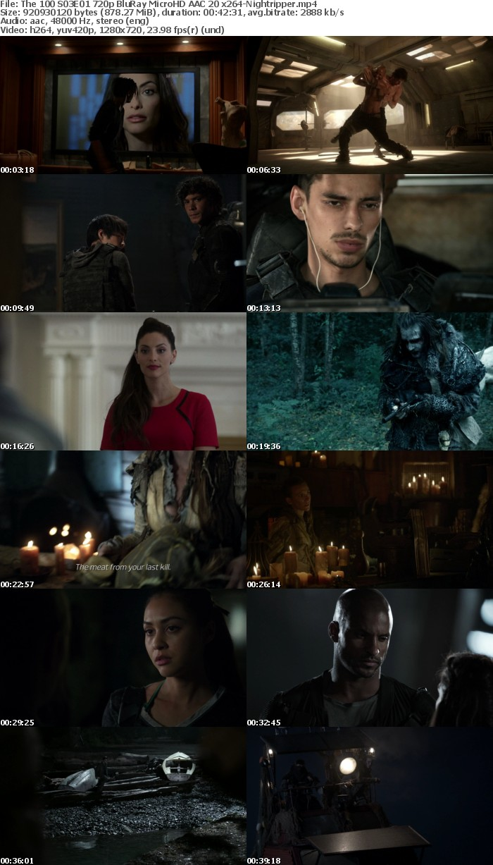 The 100 S03 (2014) 720p BluRay MicroHD AAC 2 0 x264-Nightripper