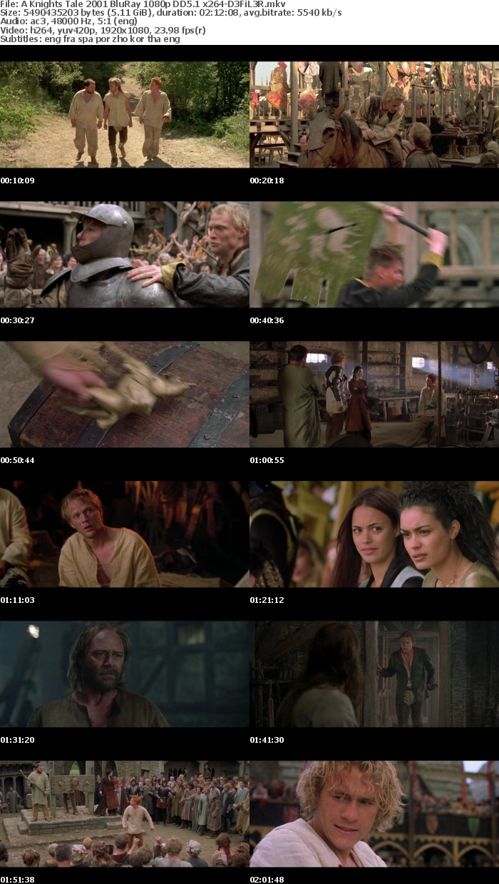A Knights Tale 2001 BluRay 1080p DD5 1 x264-D3FiL3R