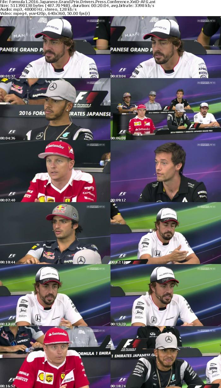 Formula1 2016 Japanese Grand Prix Drivers Press Conference XviD-AFG