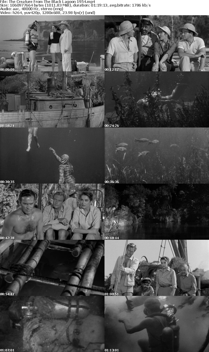 Creature From The Black Lagoon 1954 BRRIP 720p x264 AAC INFERNO