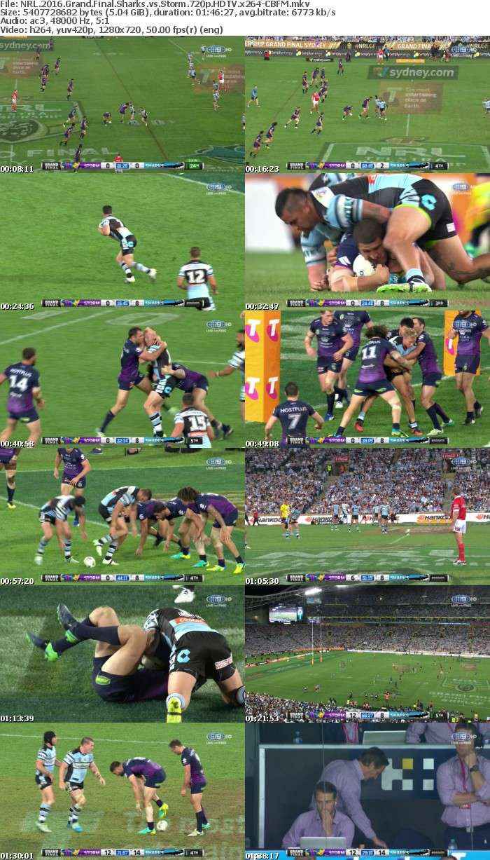 NRL 2016 Grand Final Sharks vs Storm 720p HDTV x264-CBFM