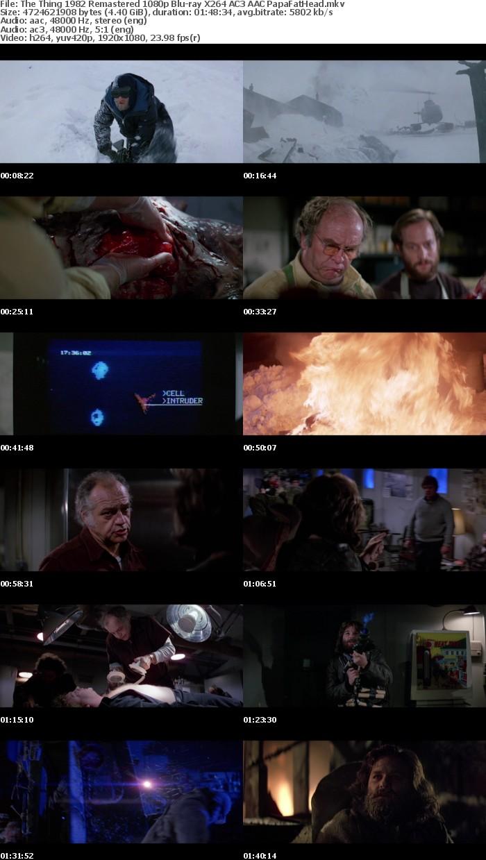 The Thing 1982 Remastered 1080p Blu-ray X264 PapaFatHead