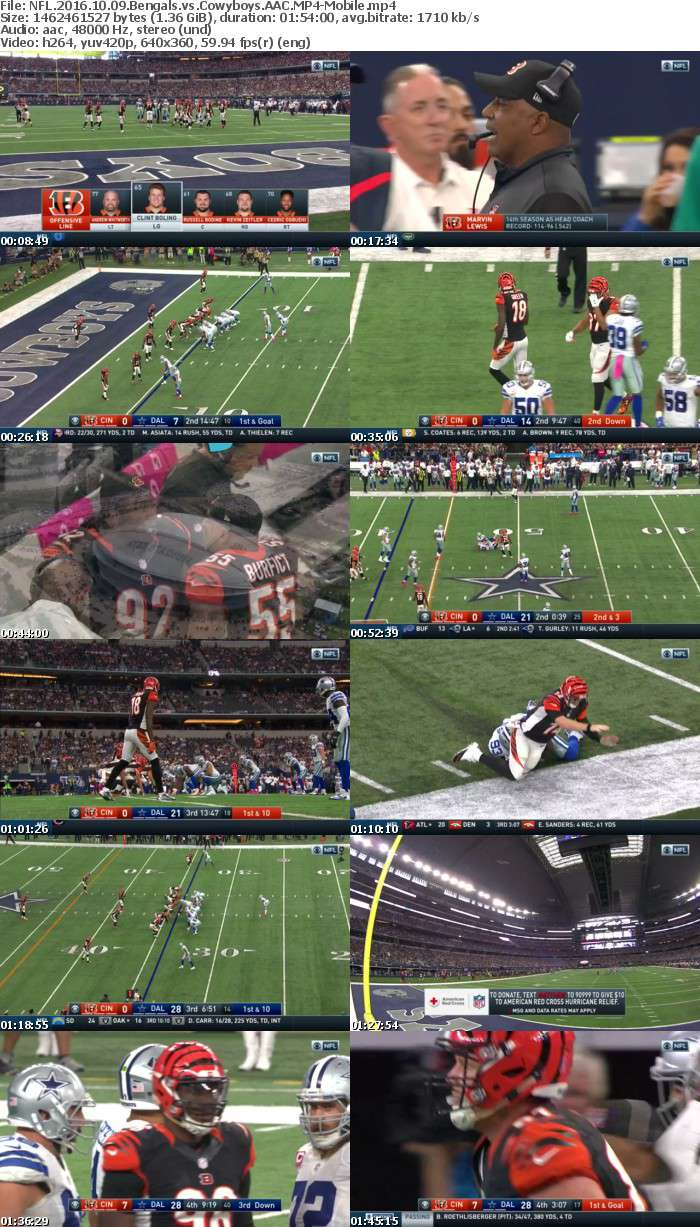 NFL 2016 10 09 Bengals vs Cowyboys AAC-Mobile