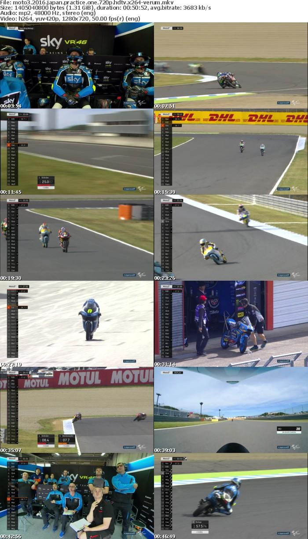 Moto3 2016 Japan Practice One 720p HDTV x264-VERUM