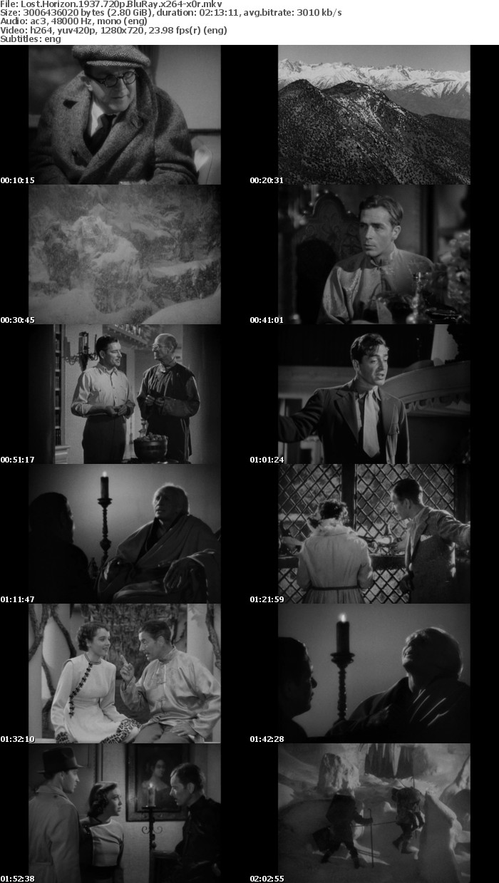 Lost Horizon 1937 720p BluRay x264 x0r