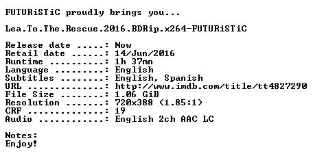 Lea To The Rescue 2016 BDRip x264-FUTURiSTiC