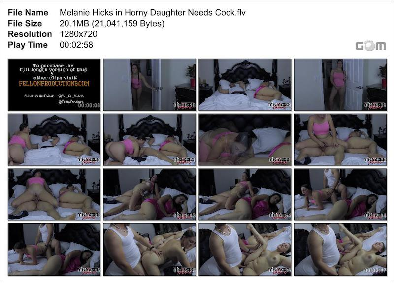 Melanie Hicks in Horny Daughter Needs Cock