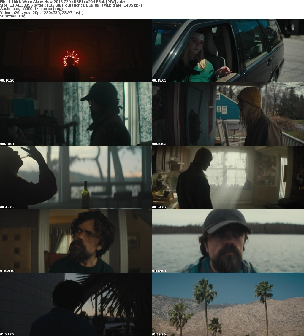 I Think Were Alone Now (2018) 720p BRRip x264 ESub MW