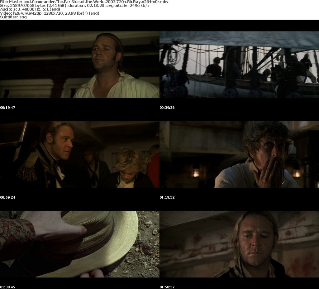 Master and Commander The Far Side of the World 2003 720p BluRay x264-x0r