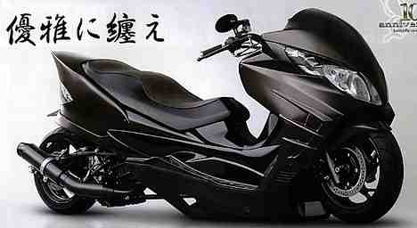 japaneese lowrider scooter, skuter jepang, modifikasi lowrider